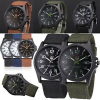 Mens Military Sports Watch Date Stainless Steel Analog Army Quartz Wrist Watch