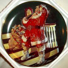 "Santa Coke 8"" Collector Plate The Coca-Cola Hour Franklin Mint 1995 Hb2367"