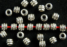 100 X ANTIQUE SILVER~ROUND~TIBETAN STYLE~SPACER BEADS, 5 x 4 MM