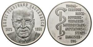 Old German Ernst Ferdinand Sauerbruch Medal 835er Silver, Medizin XF. to UNC.