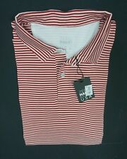 NEW ZERO RESTRICTION ZR RED STRIPED MESH PIQUE CASUAL POLO SHIRT *2XL *TINY HOLE