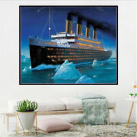 Mosaic Craft Cross Stitch Embroidery Kit Titanic 5D Diamond Painting Full Drill