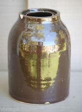 Old Antique Primitive Art Salt Glazed Stoneware Canning Crock Farm House Decor