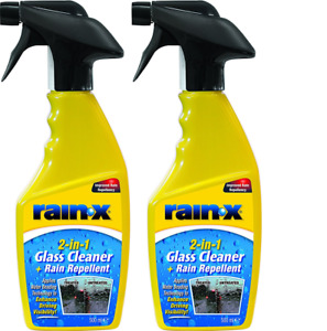 2 x Rain X 2in1 Glass Cleaner and Rain Repellent 500ml Trigger Spray
