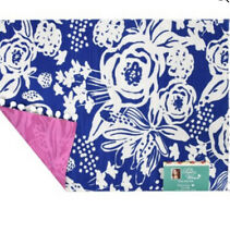 NWT Pioneer Woman Celia Pom Pom Placemat Reversible Country Floral Blue Set of 4