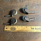 Set of 4 Vintage  Wood Wooden Wheels Wheel Casters