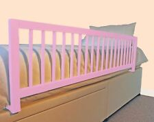 Safetots Extra Wide Long Wooden Bed Rail Girls Deluxe Toddler Bed Guard Pink