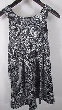 Girl's Ruby Rox 14 black white abstract paisley party dress above the knee