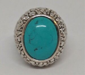 New Price !  Whitney Kelly ,WK, QVC, Sterling Silver Turquoise Dome Ring .