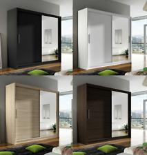 "New Bedroom Wardrobe ""BRAVA 6"" Sliding Doors Mirror Hanging Rail Shelves 180 cm"