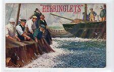 HERRINGLETS: Poster type advertising postcard by Jotter (C15797)