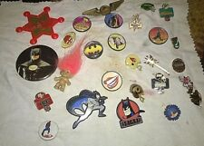 "Lotto Spille/Pins""BATMAN-SPIDERMAN-JETS-MIAMI DOLPHIN-MILAN-DELTA-GIANTS""Pz.27"