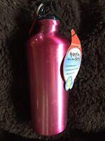New w/Tag~Trudeau~Pink Color~Unbreakable Aluminum Hydration Bottle 25oz