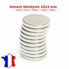 lot aimant en Néodyme Ultra Puissant pour frigo 20x3mm Petits Aimants ronds