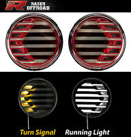 RED+Clear lens+Turn Signal LED+DRL Running Light for 07-17 Jeep Wrangler JK