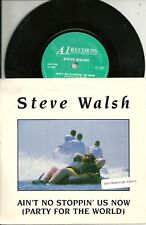 """Steve Walsh - Ain´t no stoppin us now (1988) UK 7"""" + Promo Str"""