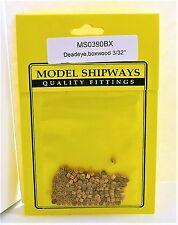 "Model Shipways Fittings MS 0390BX Boxwood Deadeyes 3/32"" (2.5mm) 150 Per PK"
