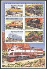 Guinea 1999 Trains/Steam/Rail/Railways/Locomotives/Transport 6v m/s (n40050)
