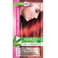 Marion Hair color shampoo sachet (lasting 4-8 washes) Aloe & Keratin 65