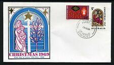Australia 1969 Christmas pair - Unaddressed Fdc