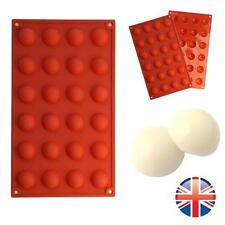 *UK Seller* Silicone 24 Cell Semi Sphere Dome Chocolate Cake Baking Mould Mold