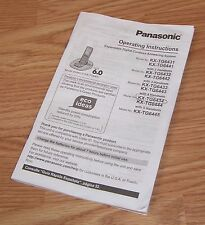 Genuine Panasonic Operating Instructions For Dect 6.0 (KX-TG6431) Cordless Phone