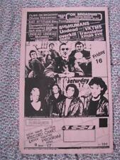 org Mabuhay Gardens Month Schedule #191 punk flyer 8.5x14 kbd hardcore vintage