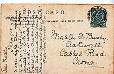Genealogy Postcard - Family History - Bushy - Cabbel Road - Cromer  A1127