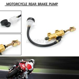 Rear Foot Brake Master Pump Cylinder W/ Fluid Reservoir for Universal Motorcycle