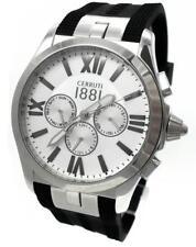 CERRUTI 1881Herren Uhr Chronograph Edelstahl schwarz silber CRA076SN04BK> > NEU