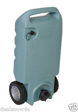 Portable Wheeled 11 Gallon RV Waste Gray Black Sewer Waste Water Tank Camper Tot