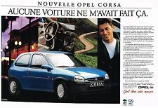 PUBLICITE ADVERTISING  1995  OPEL  CORSA (2  pages)