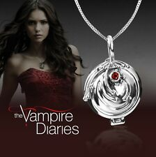 Pretty 925 Sterling Silver The Vampire Diaries Elena Openable Pendant Necklace