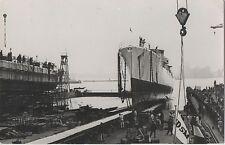 POSTCARD  SHIPS  VAN SPEYK  The Launch  (Plain Back)