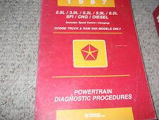 1997 DODGE RAM TRUCK 1500 2500 3500 Powertrain Diagnostic Procedure Manual OEM
