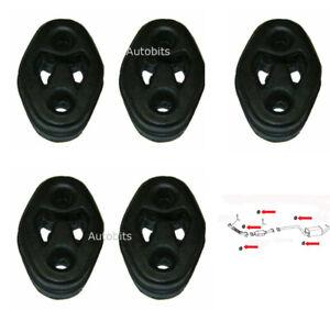 Full Set Of 5 Exhaust Rubber Hanger Mounts For Ford Focus ST 225bhp MK2 MK3