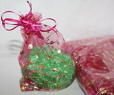 50x Geschenkbeutel Lot in der Größe 17x12 cm Organza-Beutel in lila mit Goldherz