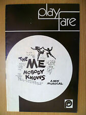 1970 Play Fare- Orpheum  Theatre Programme: THE ME NOBODY KNOWS by Jeff Britton