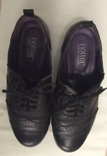 Ladies hotter Black shoes size 5.5 flat Brogues