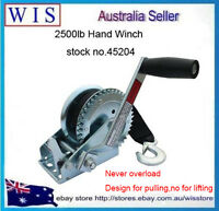2500LBS/1136Kg Hand Winch Synthetic Strap 2-Speed Manual Car Boat Trailer 4WD