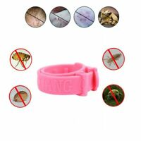 Pet Collar Dogs Cats Repel Flea Mosquito Flea Mosquito Pests Repellent Pink 1Pc
