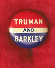 VINTAGE TRUMAN -  BARKLEY 1948 CAMPAIGN PINBACK