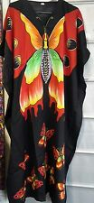 Women's New Butterfly print Long kaftan dress african style Free size 12 to 24
