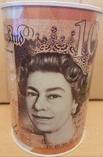 "£10 ""PLASTIC NOTE"" BANK OF ENGLAND IMAGE *BRAND NEW* MONEY BOX TIN"