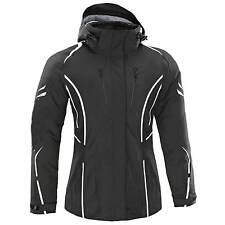 Womens Motorbike Motorcycle Ladies Waterproof Cordura Jacket Protection S Black With Hoodie