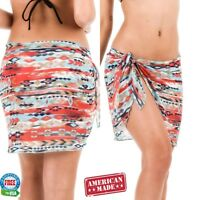 Coqueta Swimwear Chiffon Cover up Beach Sarong Pareo Canga Swimsuit Wrap ARIZONA