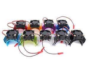 1/10 Rc Car 540 Motor Heatsink & Fan Fits Hpi Rs4 Traxxas 4tec 2.0