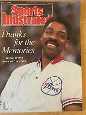 MAY 4, 1987 JULIUS ERVING PHILADELPHIA 76ERS SI, SIGNED BY WIFE TURQUOISE ERVING