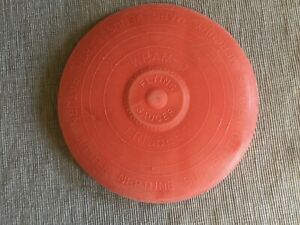 Vintage Wham-O Frisbee Flying Saucer Disc with Planets Red