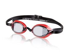 SPEEDO SPEEDSOCKET 2 FASTSKIN RACING SWIMMING GOGGLES BLACK RED NEW
